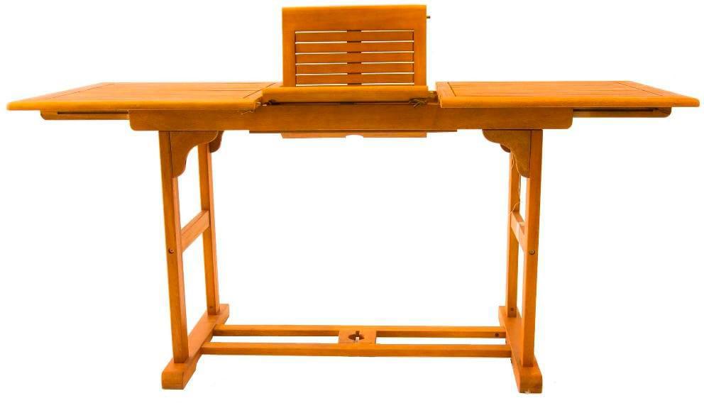Tavolo Allungabile Color Ciliegio.Amicasa Tavolo Allungabile Da Giardino In Legno 120 160x70 Cm Colore