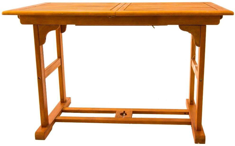 Tavolo Color Ciliegio Allungabile.Amicasa Tavolo Allungabile Da Giardino In Legno 120 160x70 Cm