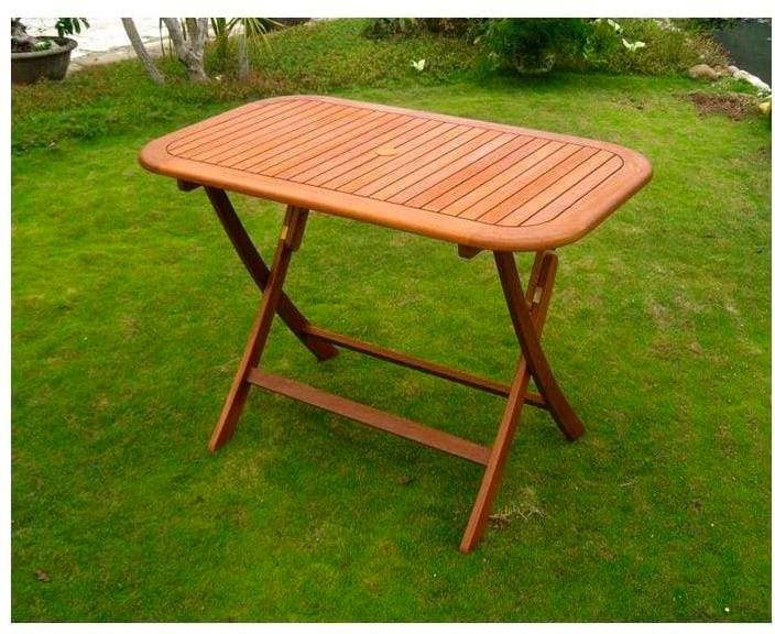 Amicasa tavolo pieghevole da giardino tavolo in legno 120x70x75 h cm vigo for Tavolo in legno pieghevole