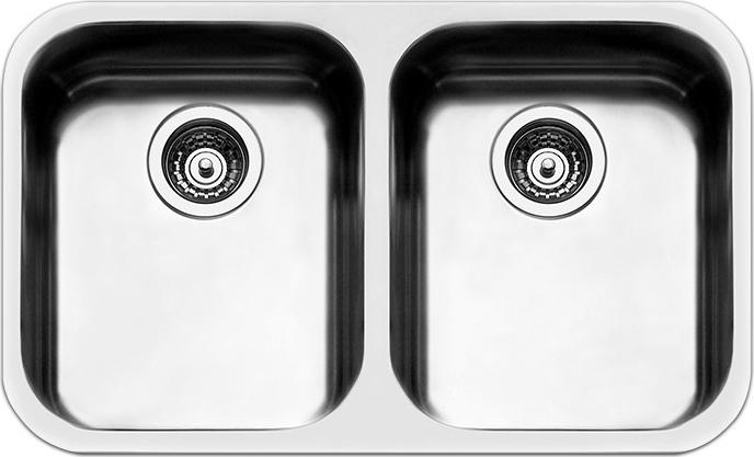 Apell lavello cucina sottotop 2 vasche larghezza 76 cm - Lavello cucina sottotop ...