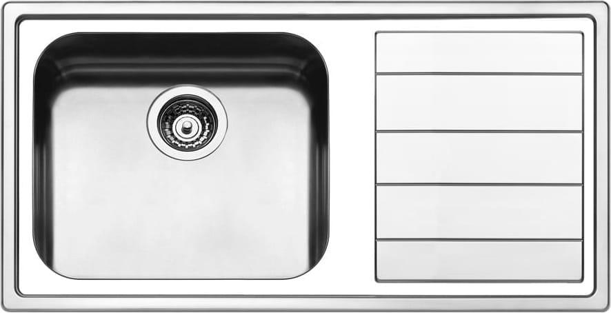 Apell Lavello Cucina Incasso 1 Vasca con Gocciolatoio DX Larghezza ...