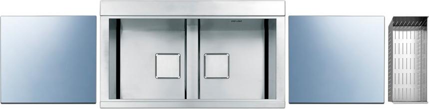 Lavello Cucina Apell PD862IKITS 2 Vasche Inox Prezzoforte - 25807