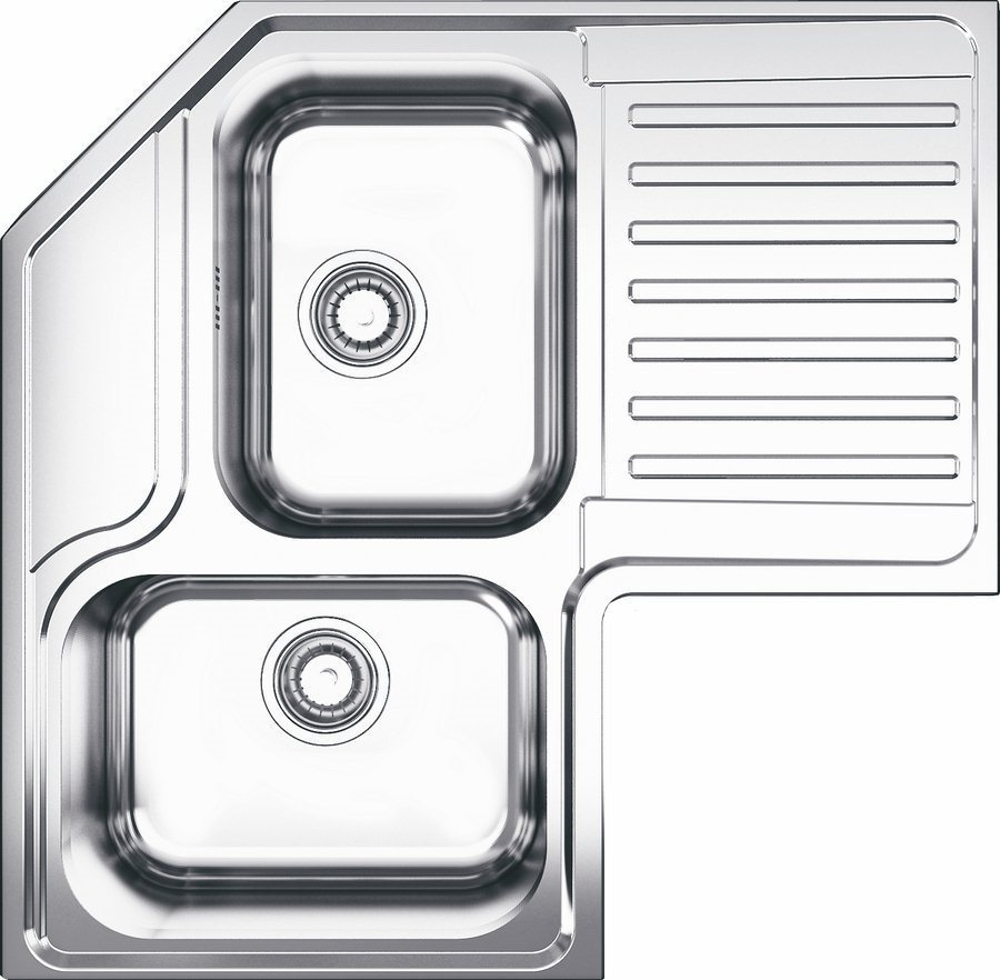Lavello cucina apell roan2b90irbc 2 angolare vasche inox prezzoforte 44998 - Lavello cucina angolare ...