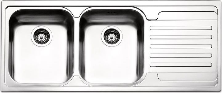 lavello cucina apell ve1162irac 2 vasche inox prezzoforte - 25756