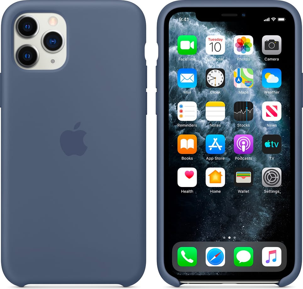 Apple MWYR2ZMA Cover Custodia Originale Smartphone Apple iPhone 11 Pro Blu