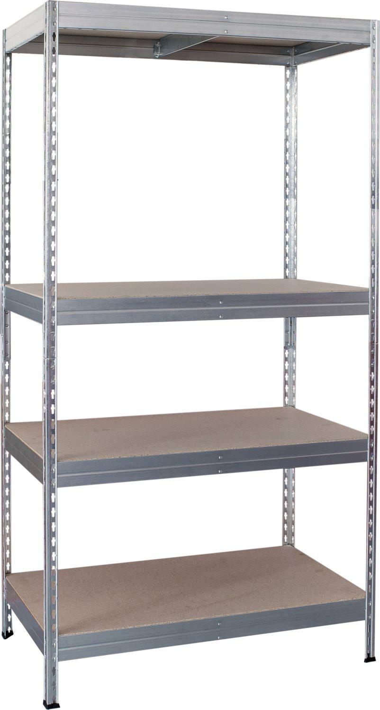 Offerta Scaffalature Metalliche.Scaffale Metallo 4 Ripiani In Legno Dimensioni 100x40x176 H Portata Massima 200 Kg Robustus