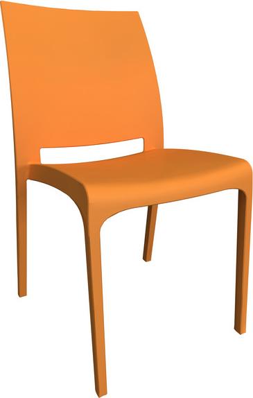 Sedie In Polipropilene Da Giardino.Sedia Da Giardino Bica 300 Arancione Arredo Giardino E Mobili Da