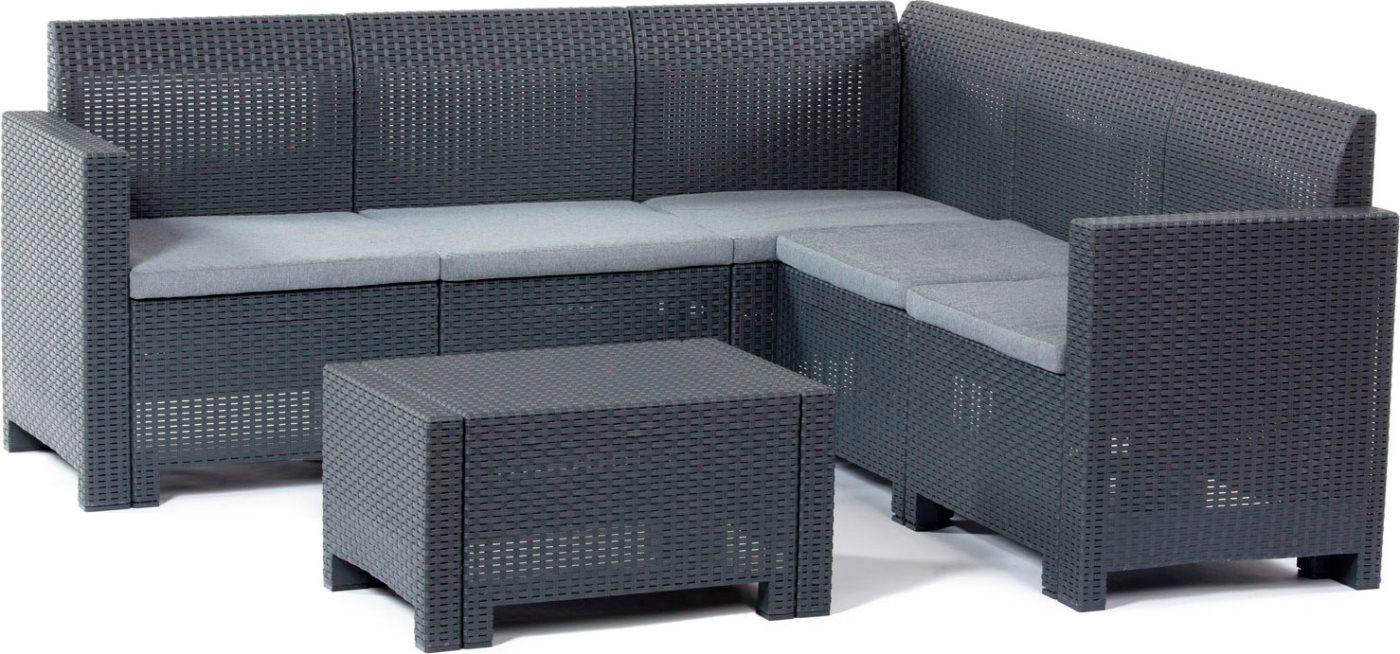 Bica salotto da giardino salottino da esterno effetto rattan set 2 pezzi completo divano - Set divano rattan ...