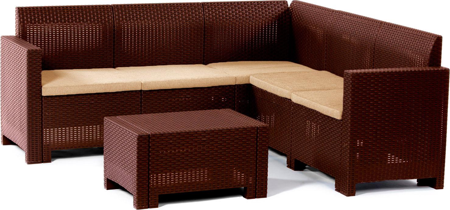 Bica salotto da giardino salottino da esterno effetto rattan set 2 pezzi completo divano - Salotto giardino rattan ...
