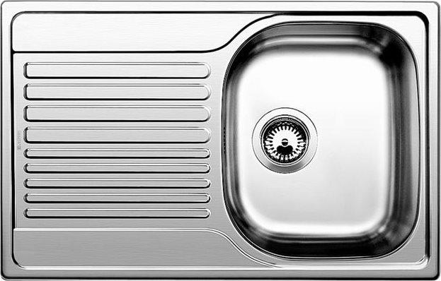 Lavelli Cucina 60 Cm.Blanco Lavello Cucina 1 Vasca Incasso Con Gocciolatoio Sx Larghezza 76 2 Cm Base 60 Cm Materiale Acciaio Inox 18 10 Finitura Spazzolata 1318615 Tipo 45 S Compact