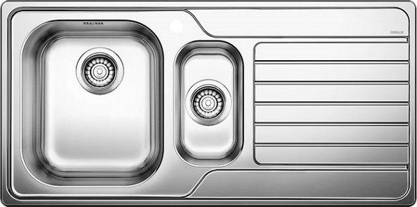 Lavelli Cucina 60 Cm.Blanco Lavello Cucina Incasso 1 Vasca E 1 2 Con Gocciolatoio Dx Larghezza 100 Cm Base 60 Cm Materiale Acciaio Inox 18 10 Finitura Spazzolata 1328105 Dinas 6 S