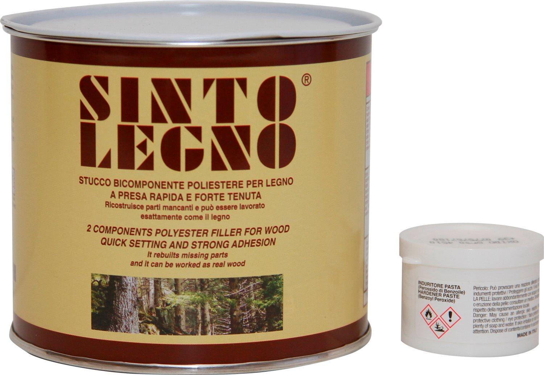Bandini Mastice Stucco Bicomponente per legno Chiaro  Scuro 750 ml Sintolegno