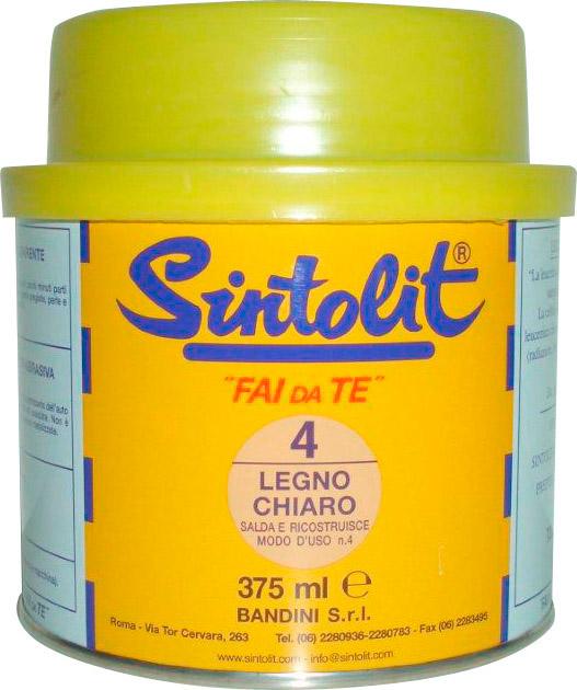 Bandini Mastice Stucco Bicomponente per legno Chiaro 375 ml Sintolegno