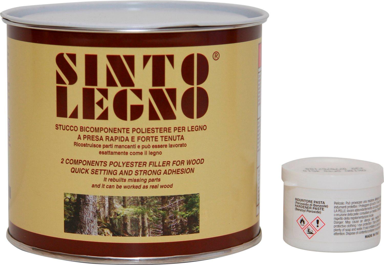 Bandini Mastice Stucco Bicomponente per legno Scuro 750 ml Sintolegno