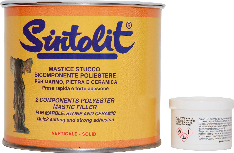 Bandini Mastice Stucco solido per marmo colore Bianco confezione 750 ml Sintolit
