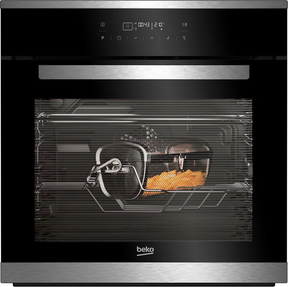 Beko forno elettrico da incasso ventilato multifunzione con girarrosto e friggitrice ad aria - Forno ad incasso ventilato ...