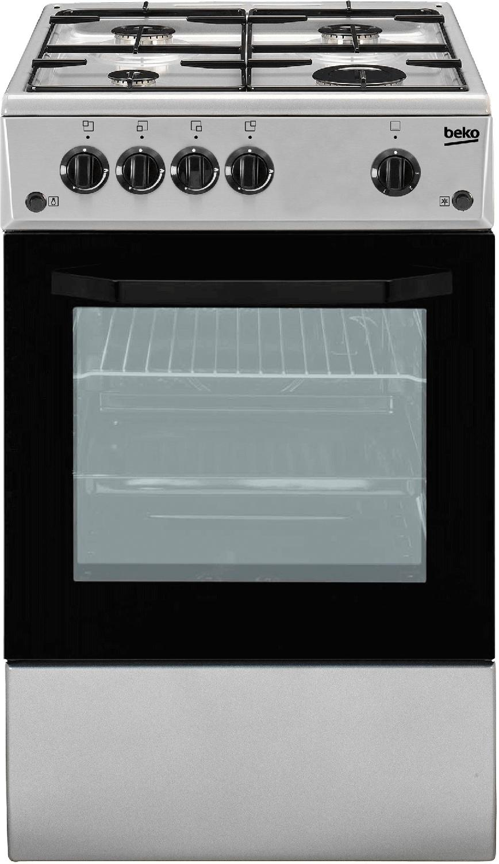 Cucine A Gas Usate In Vendita.Cucina A Gas 4 Fuochi Forno A Gas Larghezza X Profondita 50x50 Cm Con Coperchio Colore Silver Csg42011fs