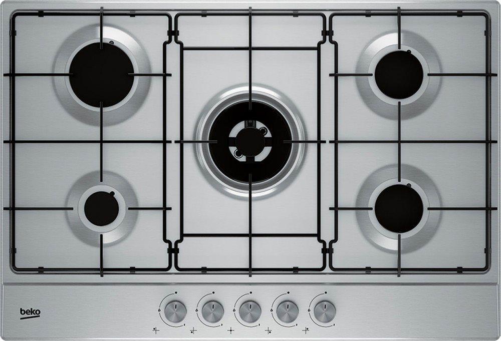 Beko Piano cottura 5 Fuochi a gas da incasso (1 Bruciatore Wok ...