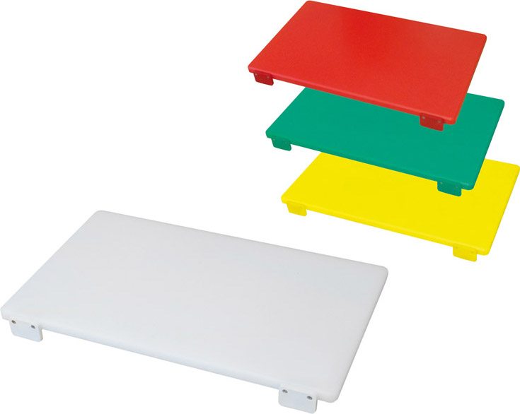 Bertoli Tagliere in polietilene con Fermo 50X30X2 colore Bianco TAG_BI