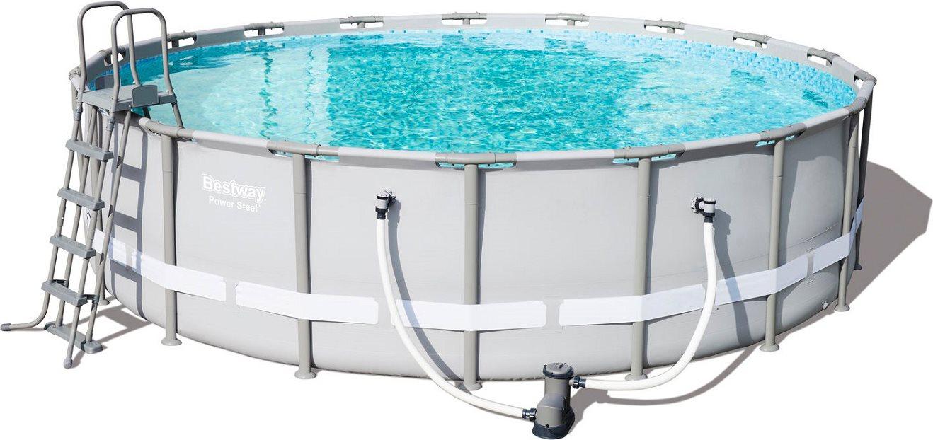 Bestway piscina fuori terra con telaio portante da giardino piscina esterna in pvc rotonda 549 - Giardino con piscina fuori terra ...