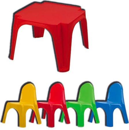 Set Tavolo Sedie Giardino Plastica.Biemme Tavolo Da Giardino Set Tavolino E Sedie 4 Per Bambini In