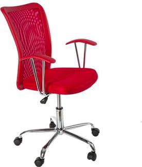 Sedia ufficio Poltrona operativa in tessuto Girevole con Braccioli e Ruote 73x63x4454h cm colore Rosso 710152 Notredame
