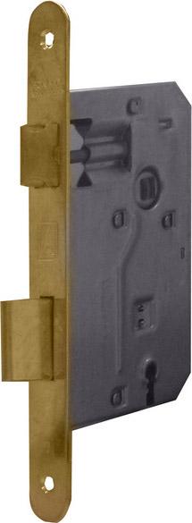 Bonaiti Serratura Legno da Infilare Inter. 70mm E. 50mm Bordo tondo Bronzo 42