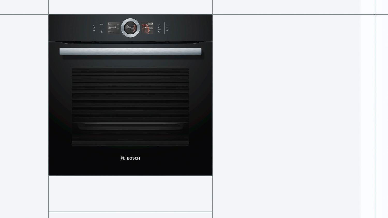 Bosch forno elettrico da incasso ventilato multifunzione con grill aria calda 4d cottura a - Forno con cottura a vapore ...