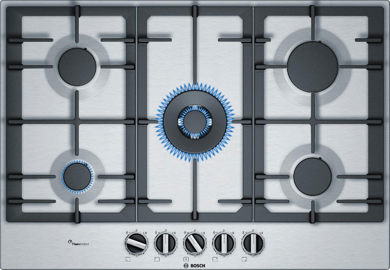 Piano Cottura Bosch Gas 5 Fuochi 75 cm PCQ7A5B90 Serie 6 ...