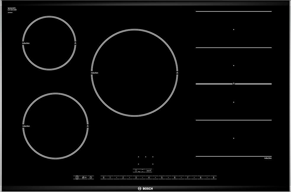 Piano Cottura Induzione Bosch 5 Fuochi 80 cm PIP875N17E Serie 8 ...