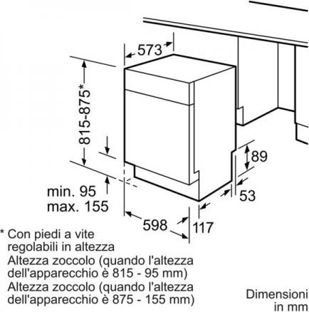 Bosch Lavastoviglie Incasso Frontalino Vista 13 Coperti A++ 60 Cm  SMU54N05II V.5