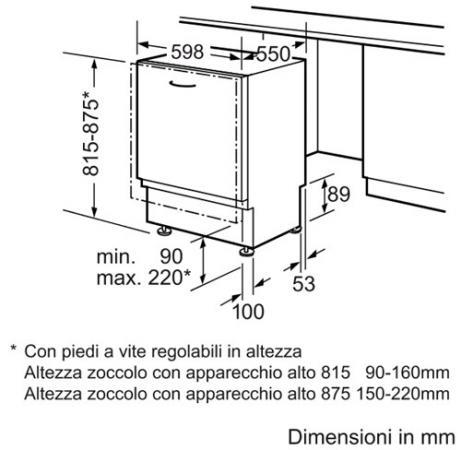 Bosch Lavastoviglie Incasso Scomparsa Totale 12 Coperti Cl A+ 60 Cm  SMV50M40EU V.2