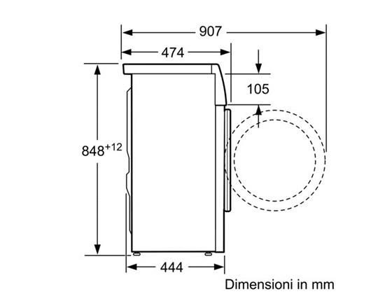 Lavatrice bosch 6 kg slim wlk20226it serie 6 varioperfect for Lavatrici slim misure