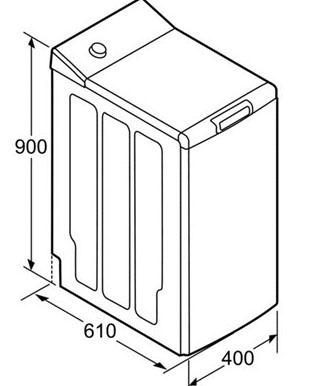 Lavatrice carica dall alto dimensioni colonna porta for Lavatrici slim misure