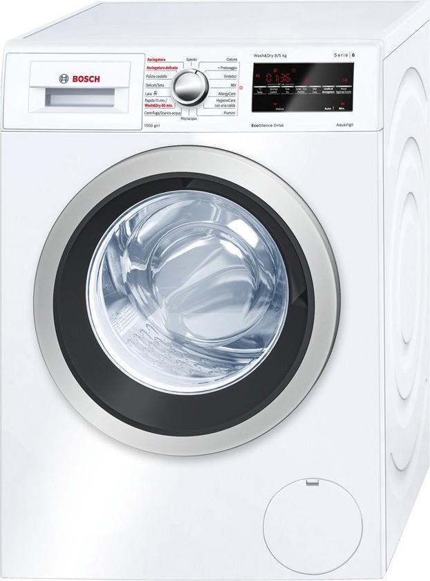 Lavasciuga bosch lavatrice asciugatrice wvg30421it serie 6 for Bosch lavasciuga