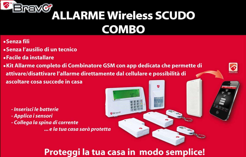 Bravo antifurto casa allarme wireless con display lcd - Allarme casa wireless ...