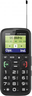 """Brondi Telefono Cellulare 1.77"""" Tasti Grandi Base di Ricarica AMICO RADIO ITA"""
