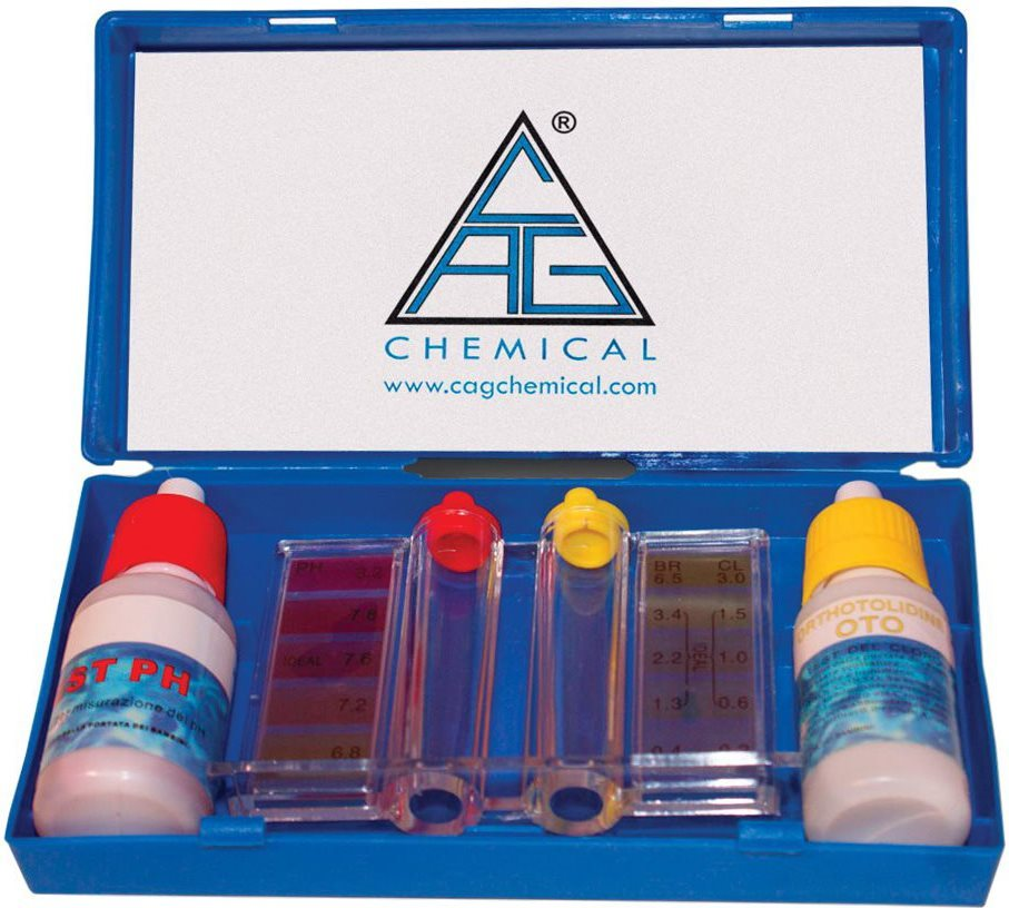 CHEMICAL KIT PH E CLORO Test piscina acqua Test Cloro e PH Kit Analisi Piscina