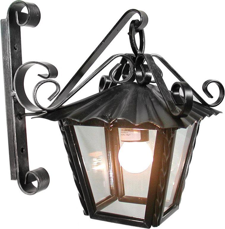 Cruccolini lampada da esterno giardino applique da parete - Lampioni in ferro battuto da esterno ...
