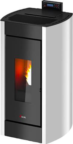 Stufa a Pellet Senza Canna Fumaria a Vista 8.6 kW Capacità serbatoio 18 Kg  Volume 208 m³ colore Bianco - Kriss 3