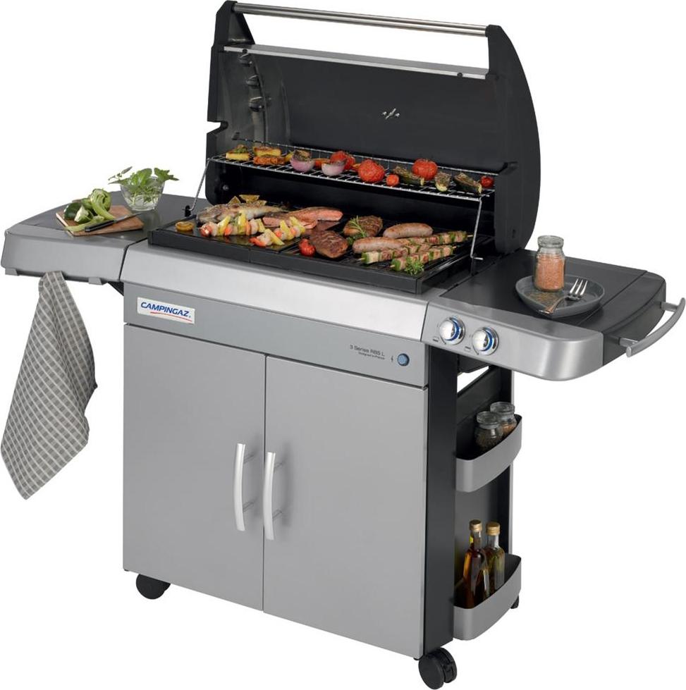 campingaz barbecue a gas piastra in ghisa e griglia da. Black Bedroom Furniture Sets. Home Design Ideas
