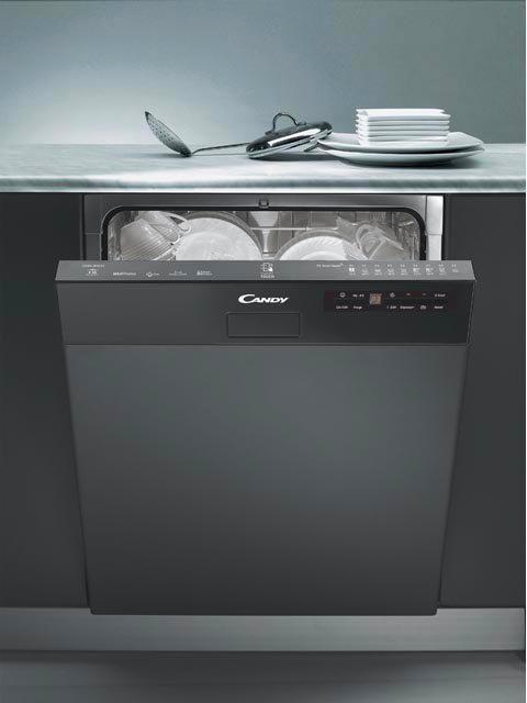 Candy lavastoviglie da incasso con frontalino a vista capacit 16 coperti classe energetica a - Porta per lavastoviglie da incasso ...