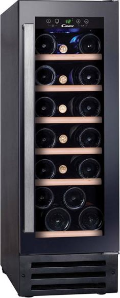 Cantinetta Frigo Incasso per Vini Capacità 19 bottiglie Classe energetica B  Raffreddamento 5 - 22 °C colore Nero - CCVB 30