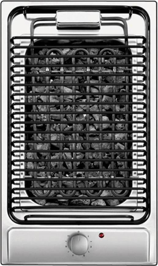 Piano Cottura Elettrico da Incasso Barbecue Griglia Elettrica con Roccia  Lavica Larghezza 29 cm colore Inox - CDB30/1X Linea Domino