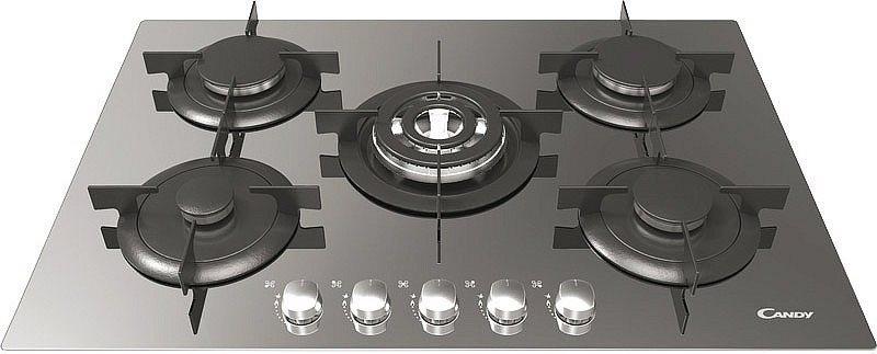 Piano Cottura Candy Gas 5 Fuochi 75 cm CVG75SQGX Serie Fashion ...