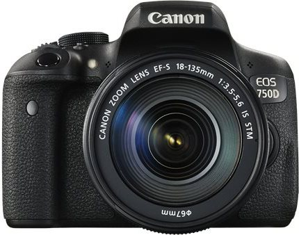 Canon Fotocamera Reflex 24,2 Mpx CMOS + Obiettivo 18-55 mm EOS 750D