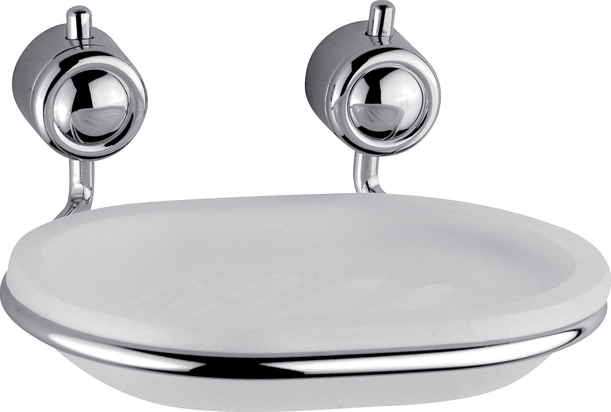 Accessori Da Bagno Carbonari.Carbonari Portasapone Da Parete In Metallo Cromato Con Piattino Porta Saponetta In Resina 802 Serie Diana