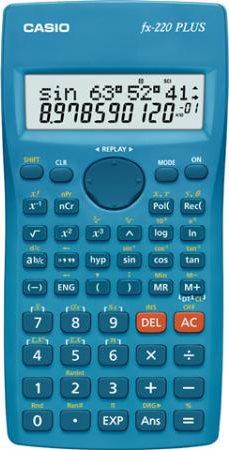 Casio Calcolatrice Scientifica tascabile Display a 2 Righe Blu - FX-220 Plus