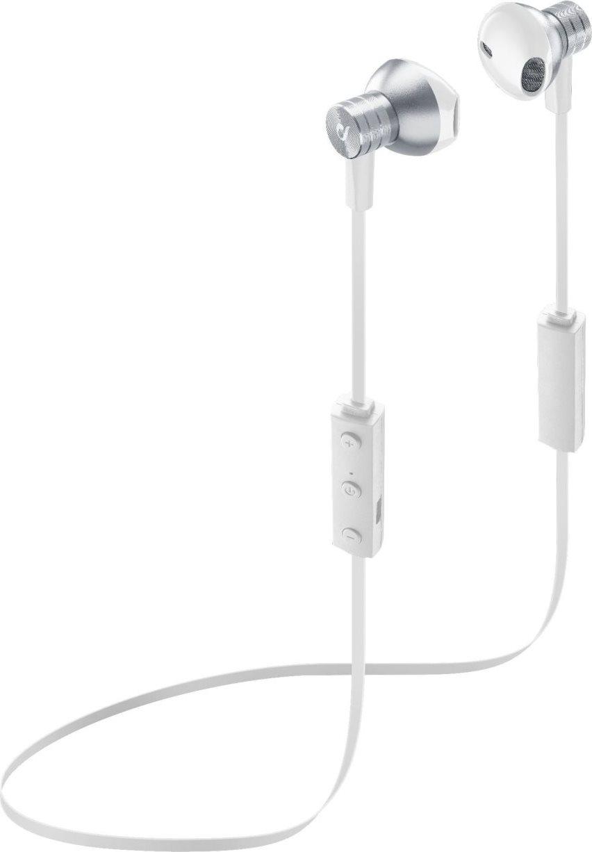 Cellular Line Auricolari Bluetooth Cuffie con Microfono e Tasto di Risposta Volume  colore Bianco - BTPEARLW 4886589013bd