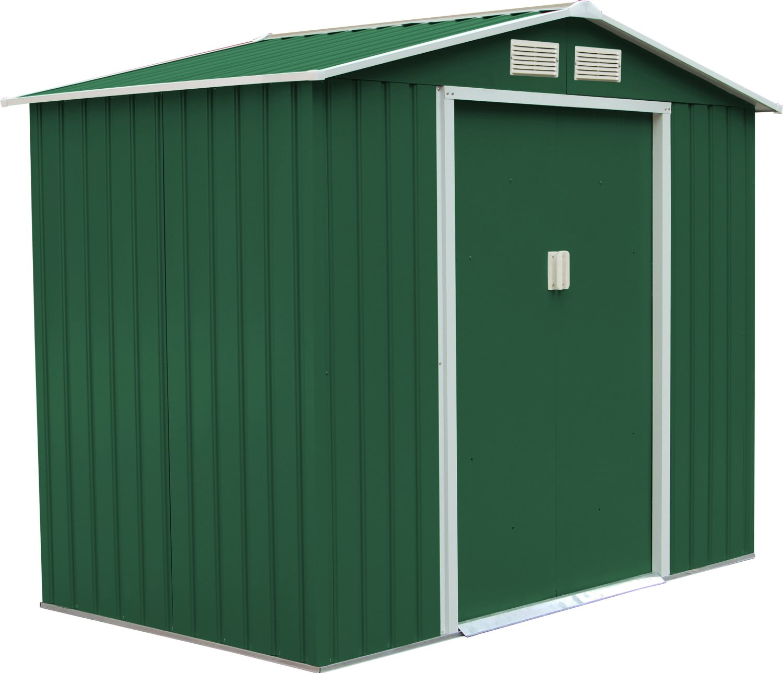 CHANGHONG Casetta da Giardino Ricovero per Attrezzi 277x191x202 h colore verde
